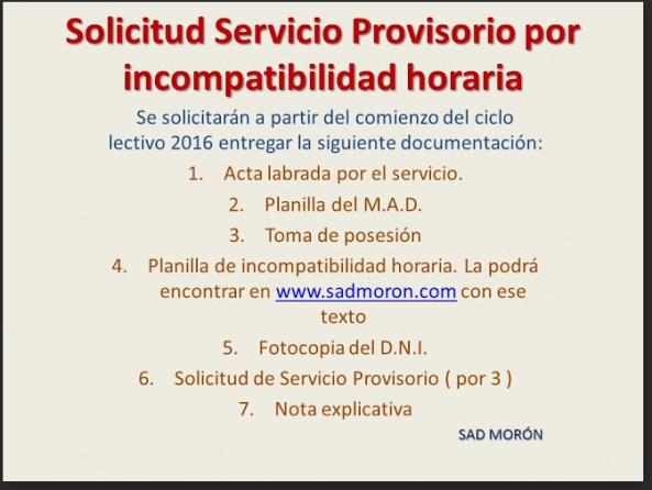 SERVICIO PROVISORIO POR INCOPATIBILIDAD HORARIA -DOCUMENTACIÓN.jpg - Google Drive