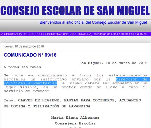 CONSEJO ESCOLAR DE SAN MIGUEL