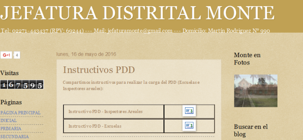 JEFATURA DISTRITAL MONTE Instructivos PDD